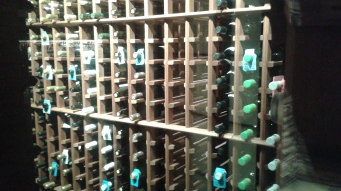 A small section of the wine cellar at Legal Seafood Boston