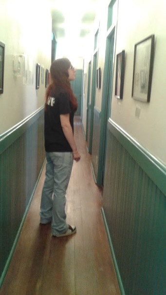 The hallway with Docent Amanda
