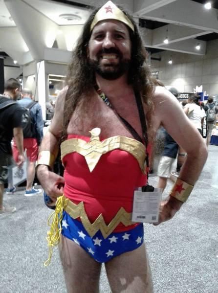 Bearded Wonder Woman