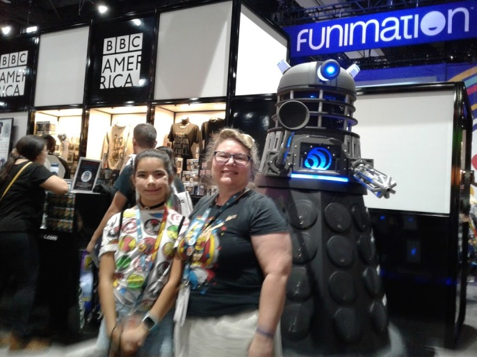 My sister-in-law, me, and a Dalek