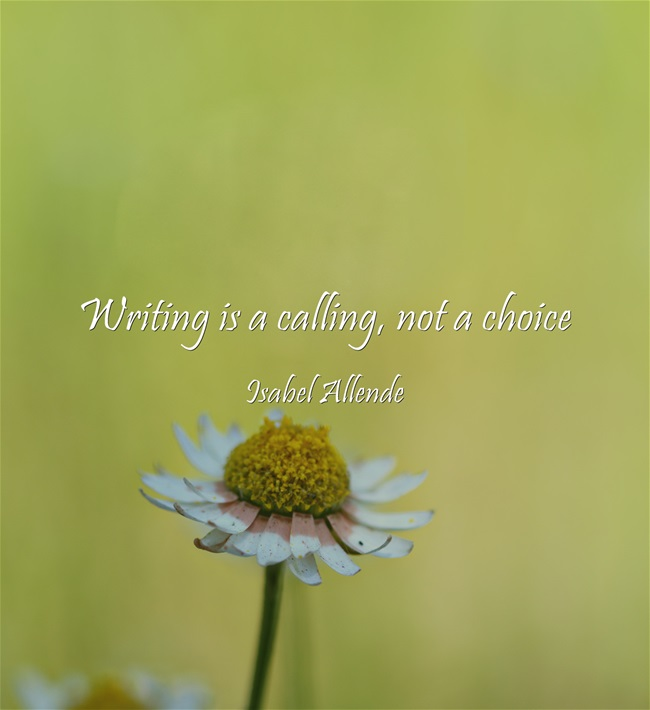 Writing-is-a-calling-not