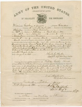 Cathay Williams - Discharge Paperwork