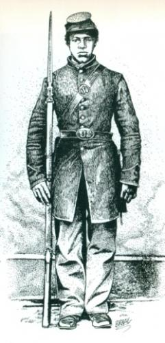 Artist rendering of Private William Cathey