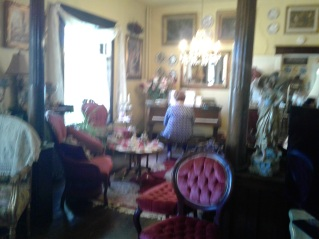 Heart's Desire B&B - Barbara playing the the piano in the sitting room.